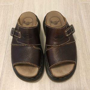 Dr. Martens Air Wair brown leather sandals